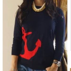 J. Crew Cotton Anchor Graphic Sweater